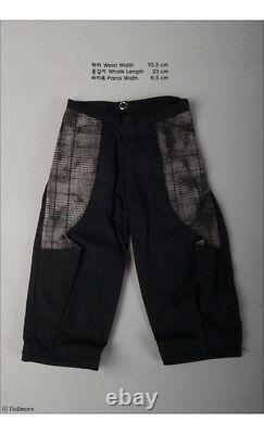 1/3 BJD SD dress set pants, long shirts, hood vest, bag SD AJ009