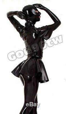 100% Latex Rubber Gummi 0.45mm outfits Dress Skirt Mask hoods gloves socks Suit