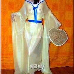 100% Latex Rubber Women Cosplay Court Clothing Masquerade Dress Size XXS-XXL