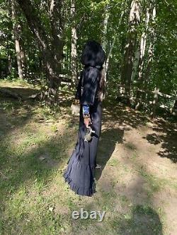 1960s gunne sax witchy hood hooded maxi dress