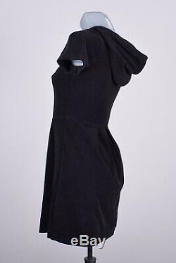 403 BURBERRY LONDON Womens sz XS Terrycloth Dress Sweatshirt Tunic Zipped Cotton