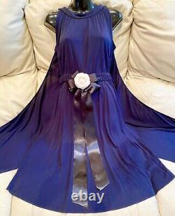 $4500 CHANEL Paris Greece 09p DRESS CAPE 34 36 0 2 Jacket Blue Top Maxi S