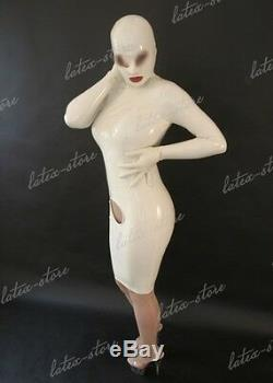 593 Latex Rubber Gummi Dress one-piece mask hoods skirts fitted customized 0.4mm