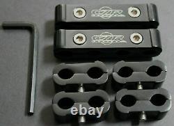 6PC SPARK PLUG WIRE BILLET SEPARATOR DIVIDER V8 V6 ENGINE Black