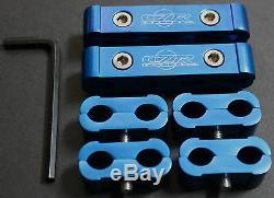 6pc Spark Plug Wire Billet Separator V8 V6 Engine Blue