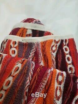 90's Vintage Coogi Hooded Long Dress with Side Split