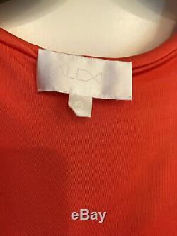 ALEXIS MILEY ORANGE SEXY WRAP MAXI DRESS w HOOD SMALL S