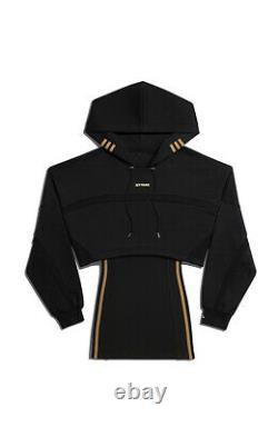 Adidas Ivy Park Hooded Cutout, Black Dress Size Medium