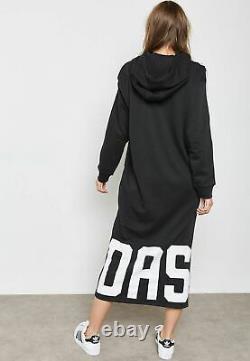Adidas Originals Hoodie Dress CY7481 Casual Maxi Dress Adidas & The Black