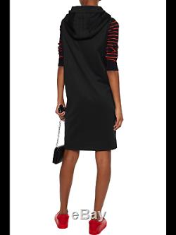 Adidas Y-3 by Yohji Yamamoto Black Sleeveless Draped Neckline Hooded Dress S, M