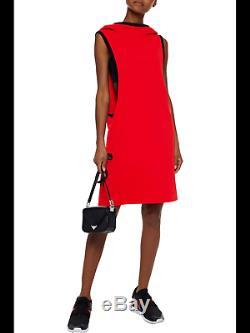 Adidas Y-3 by Yohji Yamamoto Red Sleeveless Draped Neckline Hooded Dress Size L