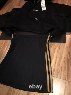 Adidas x Ivy Park Beyonce Hooded Black Cutout Dress Sz XL In Hands Ships Asap