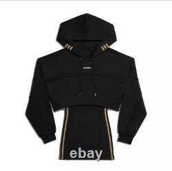 Adidas x Ivy Park Black Hooded Cutout Dress Size Medium