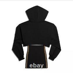 Adidas x Ivy Park Black Hooded Cutout Dress Size Small