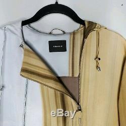 Akris Runway Spring 2012 Grand Prix Monaco Zip Silk Hooded Jacket Dress US 12