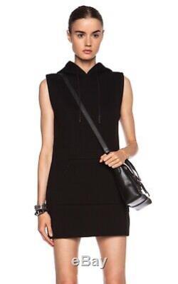 Alexander Wang Neoprene Scuba Hooded Dress Black Reflective Small MSRP $467