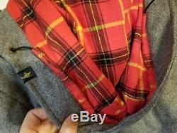 Animal BMX Mens Medium Dress Coat with Hood