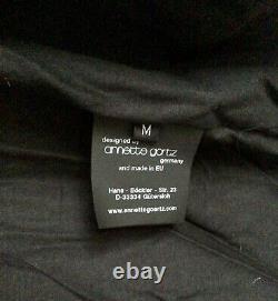 Annette Gortz Velvet Loft Black Hooded Puffa Jacket M (16/18) VGC RRP £800+