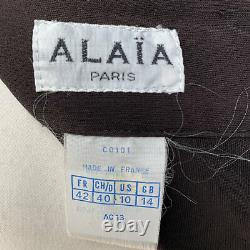 Authentic Azzedine Alaia Iconic Vintage 1980s Hooded Backless Dress Size S