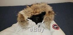 Authentic Canada Goose Kengsington Parka Jacket For Women Size LARGE color WHITE