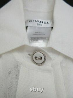 Authentic Chanel 15S Embroidered Hood With Inner Free Shipping No. 6558
