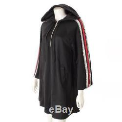 Authentic Gucci 18ss Oversized Jersey Dress With Hood Black Xs Gr Ns Used HP
