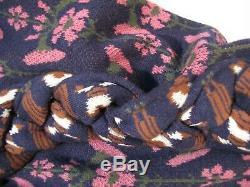 BERNHARD WILLHELM Women's Chunky Knit Cotton Wool Hooded Tunic Floral Jumper M