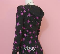 BETSEY JOHNSON Thermo Spider Hooded Black Spiders Dress