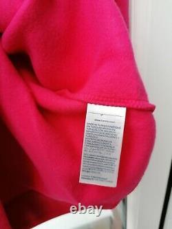 BNWT Womens Tommy Hilfiger Essential Logo Hooded Sweat Dress Pink L rrp£110