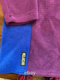 BRAND NEW Melanzana MicroGrid Dress Hoodie Women Small Phlox/Surf Blue/Purple