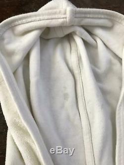 BURBERRY London Womens Towelling Tennis Dress Nova Check Hooded Small White