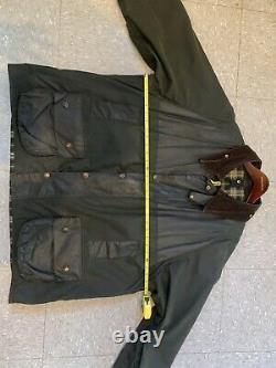 Barbour A150 Beaufort Waxed Dress Gordon C52/132cm XXXL +XLong Sleeves +hood VTG