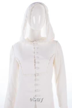 Berkertex Bridal Boutique Vintage Dress with Matching Hooded Coat Cream UK10