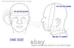Black Latex Rubber Hood Feminine Mouth Sheath Fetish Dress Woman Female Mask