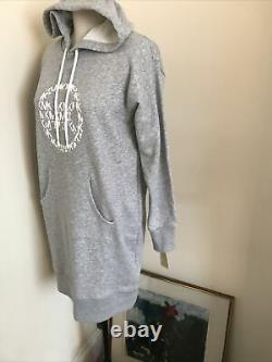 Bnwt Michael Kors Womens Hoodie Monogram Pearl Heather Dress Extra Small £150