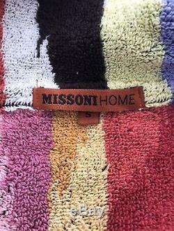 Brand New Missoni Home Luxury Hooded Bathrobe Dressing Gown Unisex Size S