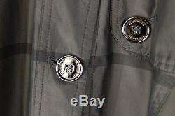 Burberry London Women Coat Mac Trench Casual Formal Grey size L UK14