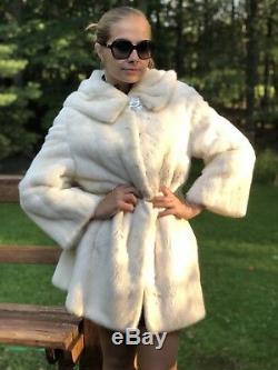 Buttery Soft Cream Beige Mink Fur With Hood