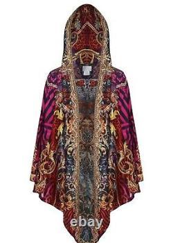 CAMILLA SLAVE TO THE RHYTHM SILK HOODED SHAWL BNWT Cape Kaftan Dress SOLD OUT