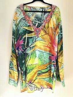Camilla Franks Birds Of Paradise Short Kaftan Free Size With Hood