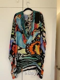 Camilla Franks Vintage Guadaloupe Short Silk Hooded Kaftan O/S