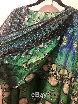 Camilla Sinti Silk Hooded Kaftan Dress