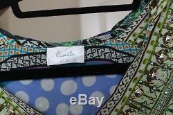 Camilla short hooded kaftan with crystal and beading front (OS)