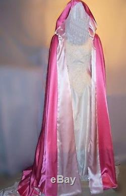 Cape with Train to cover your Wedding Bridal Dress YOU choose the satin colors