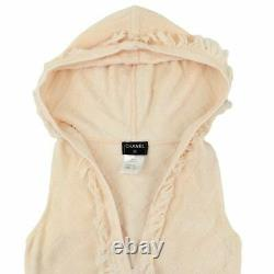 Chanel P51 Knit Dress With Hood Women'S Pink System 34 Coco Mark No. 3501