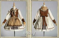 Check Dress Cosplay costume Little Red Riding Hood Holloween Christmas Kids Gift