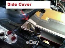 Corvette C4 1990-1996 3 Pc RADIATOR SURGE TANK COVERS Polished Stainless chrome