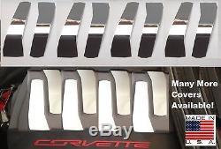 Corvette C7 2014-2018 8 Pc ENGINE COVER KIT Polished Stainless engine chrome