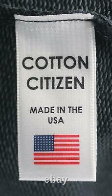 Cotton Citizen Milan Cotton Terry Hooded Mini Dress Medium