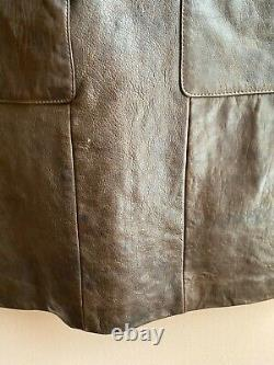 Cynthia Steffe made in NY lambskin leather atelier vintage dress 6 fits like S